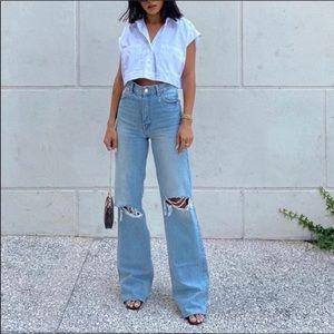 Zara high waisted full 90s jeans